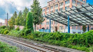 Salamander-Areal, Kornwestheim, Haltestelle S-Bahn