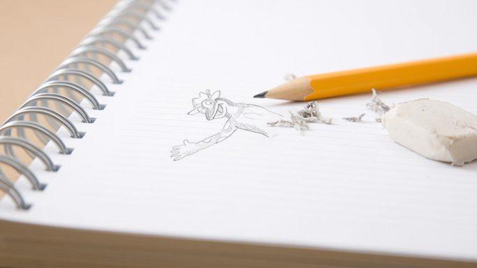 Lurchi-Skizzenbuch unter Verwendung eines Bildes licensed by Ingram Image/adpic