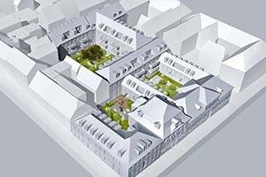 Höfe am Kaffeeberg, Ludwigsburg, Visualisierung Stadtquartier