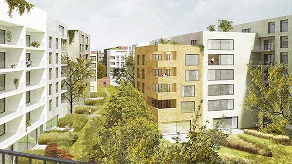 Lingner Altstadtgarten, Dresden, Visualisierung Peter Kulka Architektur