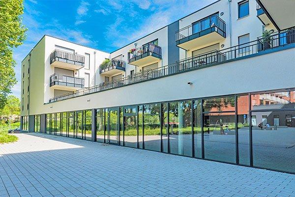 Salamander-Areal, Kornwestheim, Neubau Gewerbeimmobilien am Salamanderplatz Fenstergalerie