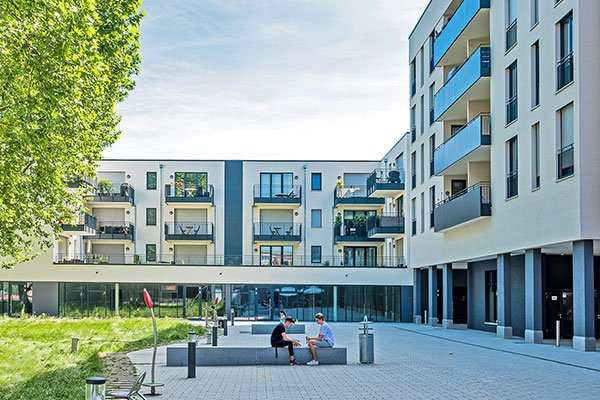 Salamander-Areal, Kornwestheim, Neubau Gewerbeimmobilien am Salamanderplatz