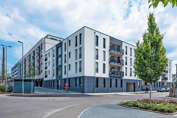 Salamander-Areal, Kornwestheim, Neubau Wohn- und Gewerbeimmobilie am Salamanderplatz
