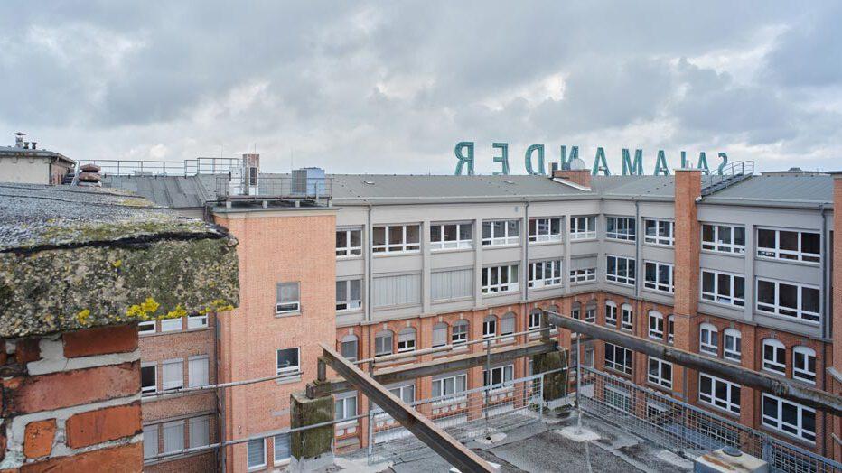 Salamander-Areal, Blick über die Dächer