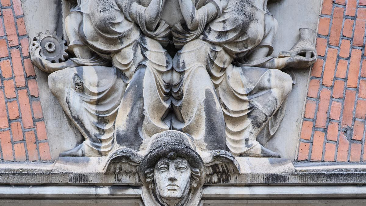 Fassade Hauptgebäude Salamander-Areal, Detail