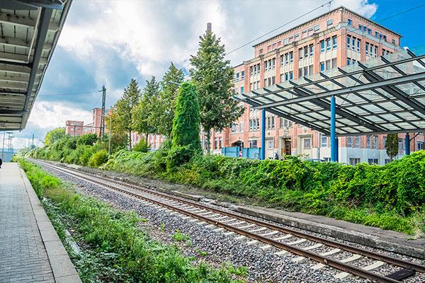 Salamander-Areal, Haltestelle S-Bahn